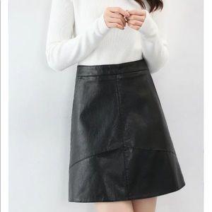 Dresses & Skirts - SALE!! Was $40 Gorgeous Black Leather Mini Skirt